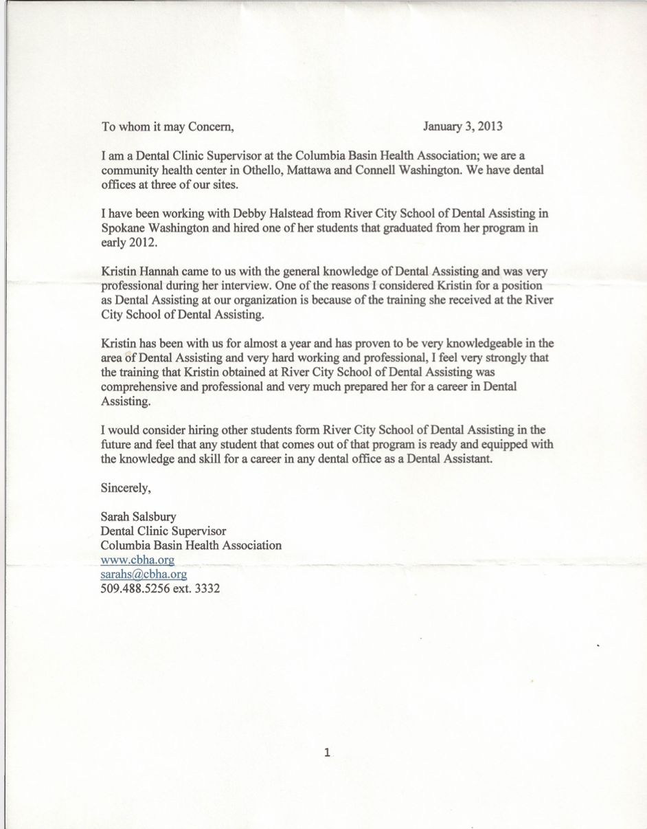 testimonials river city school of dental assisting real unbiased reviews